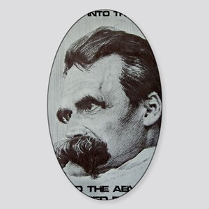 Nietzche - The Abyss Sticker (Oval)