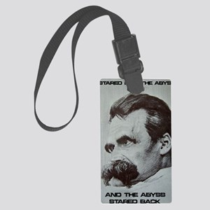 Nietzche - The Abyss Large Luggage Tag