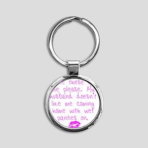 kissed - pink Round Keychain