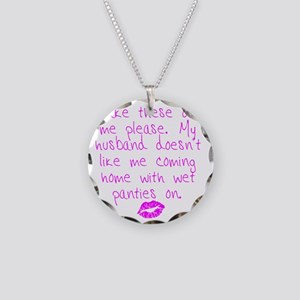 kissed - pink Necklace Circle Charm