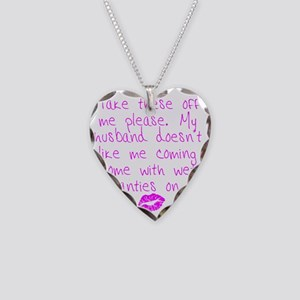 kissed - pink Necklace Heart Charm