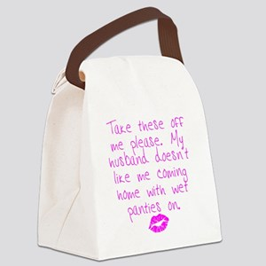 kissed - pink Canvas Lunch Bag