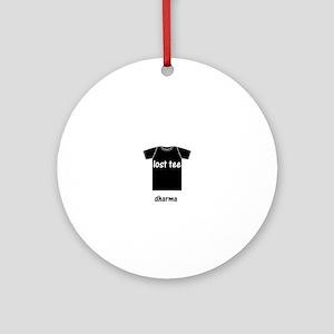 lost tee black t-shirt copy Round Ornament