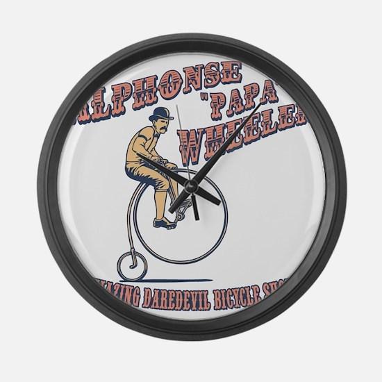 antique-wheelie-show-T Large Wall Clock