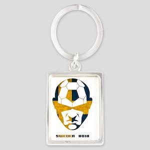 Soccer 2010 -Sweden Portrait Keychain