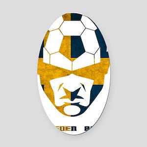Soccer 2010 -Sweden Oval Car Magnet