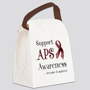 Support APS Awareness Canvas Lunch Bag