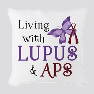 Living with Lupus  APS Woven Throw Pillow