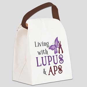 Living with Lupus  APS Canvas Lunch Bag