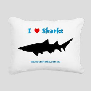 Ilovesharks Rectangular Canvas Pillow