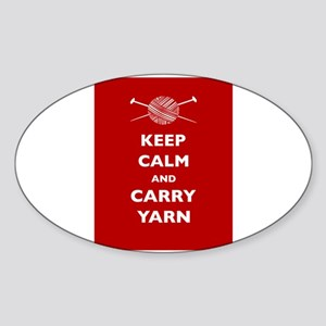 Keep Calm Carry Yarn Sticker