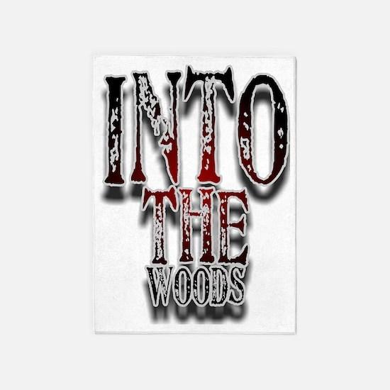 woods1 5'x7'Area Rug