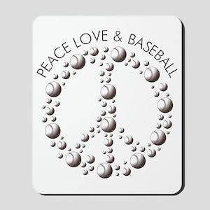 Peace,Love  Baseball Mousepad