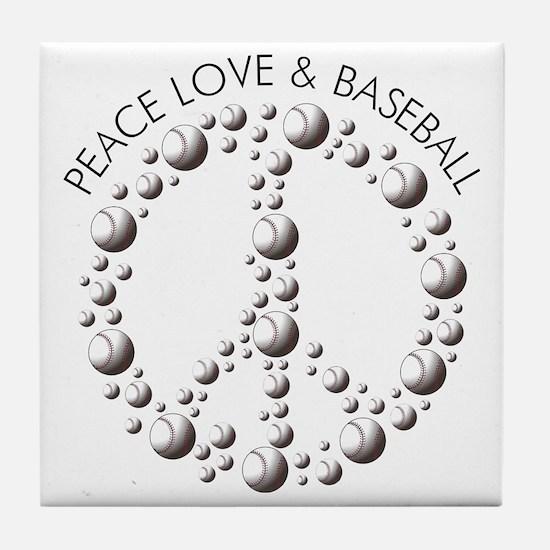 Peace,Love  Baseball Tile Coaster