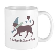 I Believe in Santa Paws Mugs