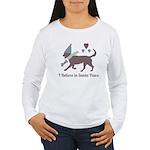 I Believe In Santa Paws Women's Long Sleeve T-Shir