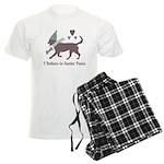 I Believe In Santa Paws Men's Pajamas