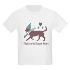 I Believe In Santa Paws: Kids Light T-Shirt