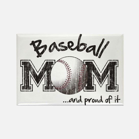 Baseball Mom...and proud of it Rectangle Magnet
