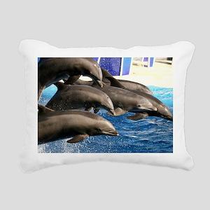 dolphin8 Rectangular Canvas Pillow