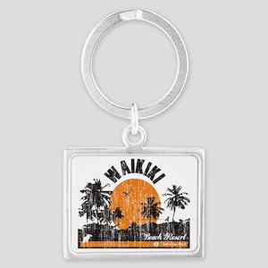Waikiki - Beach Resort Landscape Keychain