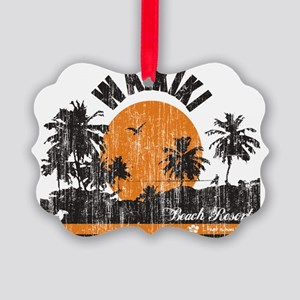 Waikiki - Beach Resort Picture Ornament