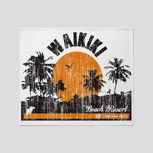 Waikiki - Beach Resort Throw Blanket