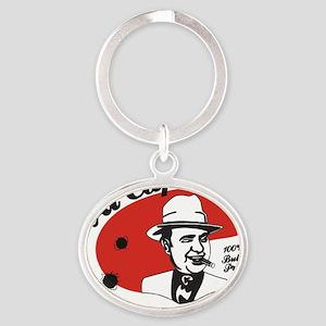 Big Al Capone Oval Keychain