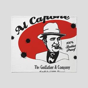 Big Al Capone Throw Blanket