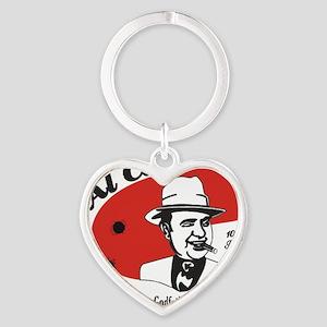 Big Al Capone Heart Keychain