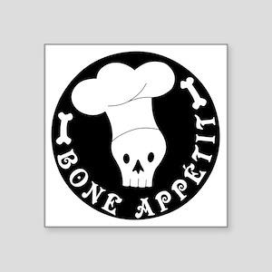 "boneappetit8inch Square Sticker 3"" x 3"""