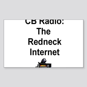 Redneck Internet Rectangle Sticker