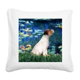 Jack russell terrier in heaven Square Canvas Pillows