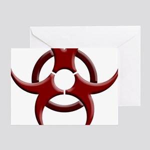 Biohazard Symbol Dark Shirts Greeting Card