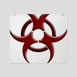 Biohazard Symbol Dark Shirts Throw Blanket