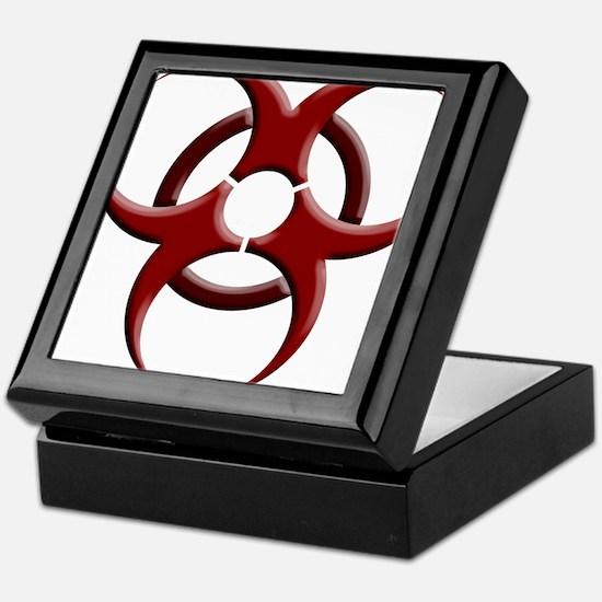 Biohazard Symbol Dark Shirts Keepsake Box
