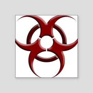 """Biohazard Symbol Dark Shirt Square Sticker 3"""" x 3"""""""