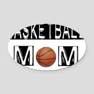 basketball mom Oval Car Magnet