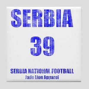 Serbia football vintage Tile Coaster