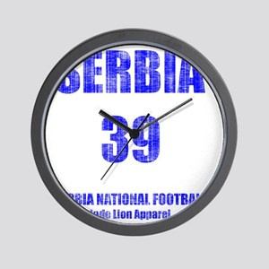 Serbia football vintage Wall Clock