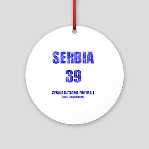 Serbia football vintage Round Ornament