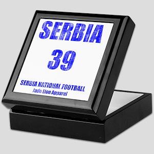 Serbia football vintage Keepsake Box