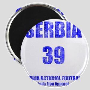 Serbia football vintage Magnet