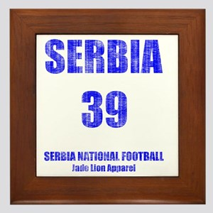 Serbia football vintage Framed Tile