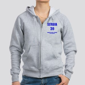 Serbia football vintage Women's Zip Hoodie
