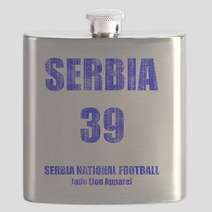 Serbia football vintage Flask