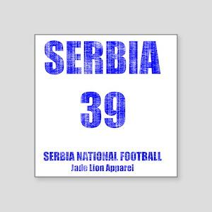 "Serbia football vintage Square Sticker 3"" x 3"""