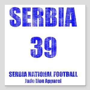 "Serbia football vintage Square Car Magnet 3"" x 3"""