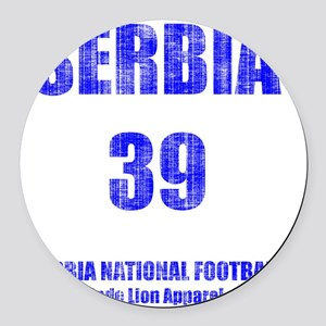 Serbia football vintage Round Car Magnet