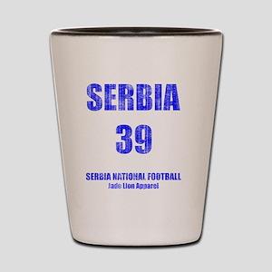 Serbia football vintage Shot Glass